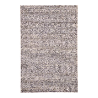 Jaipur Living Calista Natural Solid Blue/ Light Gray Area Rug - 8'x10' For Sale