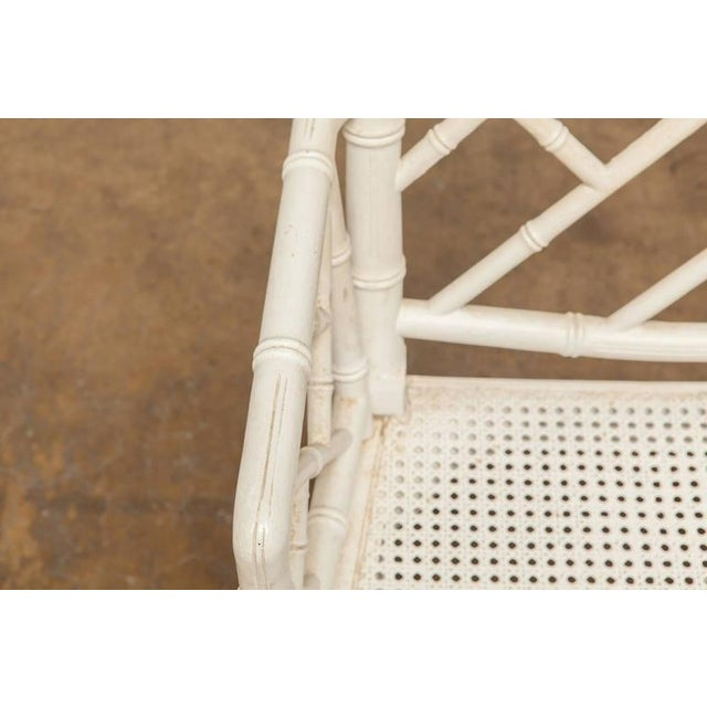 Chinese Chippendale Faux Bamboo Armchairs - Pair - Image 5 of 8