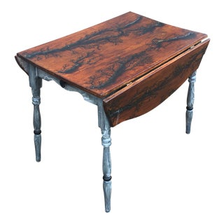 Late 18th Century Antique English George III Satinwood Pembroke Table For Sale
