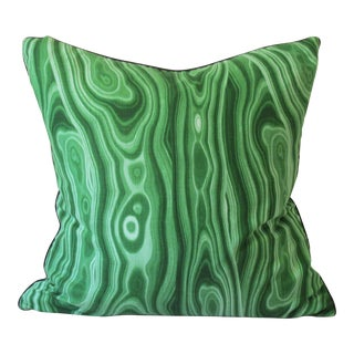 Malachite Green Print Pillow For Sale