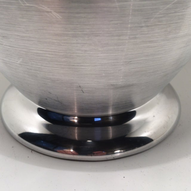 Kromex Brushed Stainless Steel & Chrome Ice Bucket For Sale - Image 9 of 11