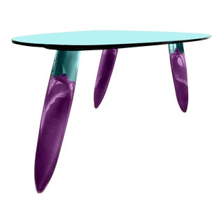 Contemporary Maurice Barilone for Roche Bobois Murano Art Glass Dining Table For Sale