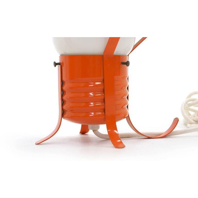 Pair of Oversized Pop Art Mod Light Bulb Table or Hanging Lamps, Orange Frames For Sale - Image 9 of 9