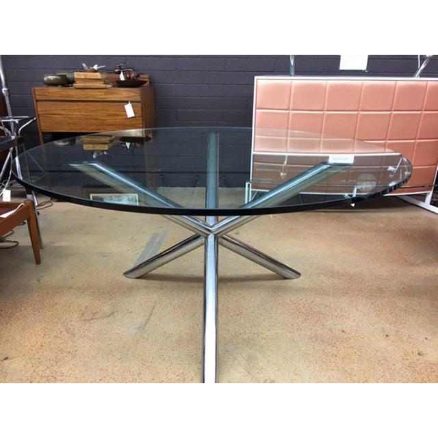Contemporary Milo Baughman Style Jax Dining Table For Sale - Image 3 of 8