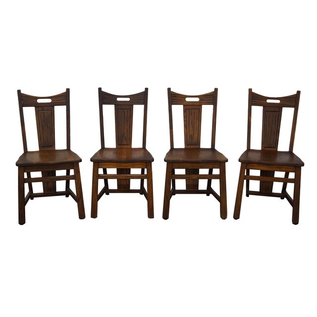 Brandt Ranch Oak Rust Dining Chairs - Set of 4 - Image 1 of 10