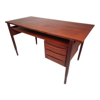 Danish Modern Floating-Top Desk For Sale