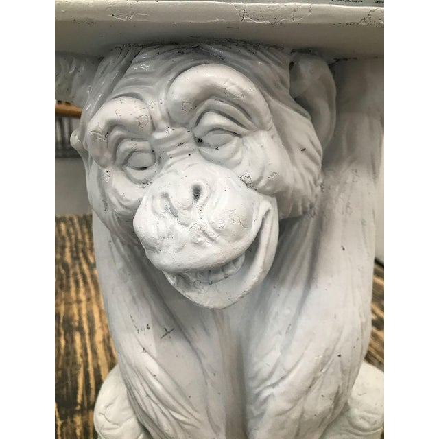 Boho Chic Vintage Plaster Monkey Table For Sale - Image 3 of 10