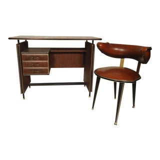 Vintage Modern Italian Desk and Chair For Sale