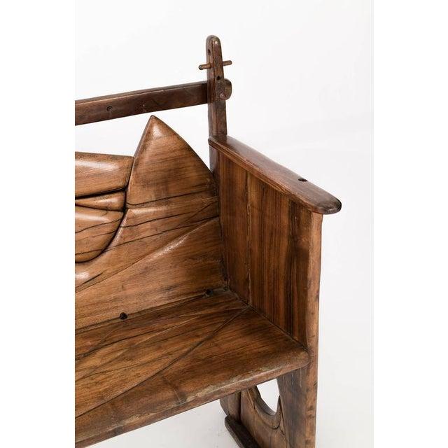 Brown Jan De Swart Sculptural Bench For Sale - Image 8 of 9