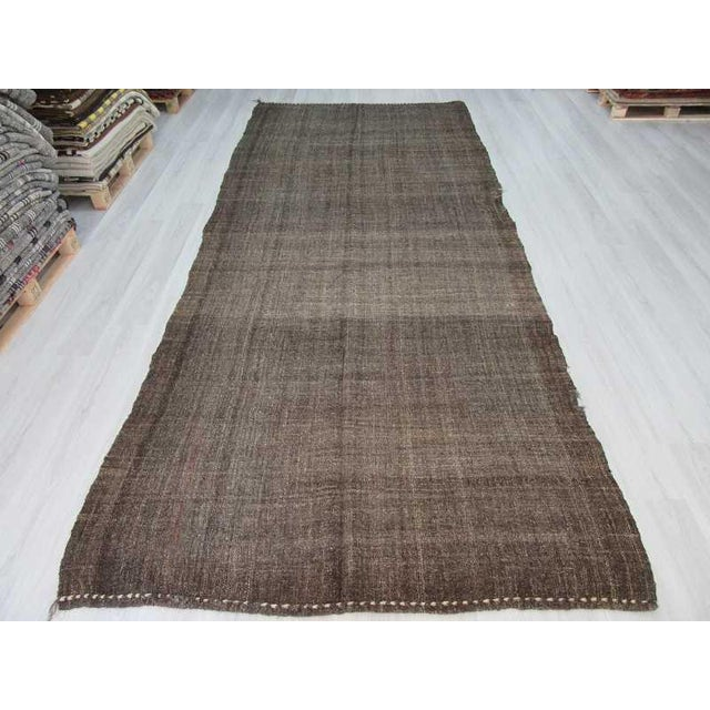Handwoven Vintage Modern Goat Hair Turkish Kilim Rug