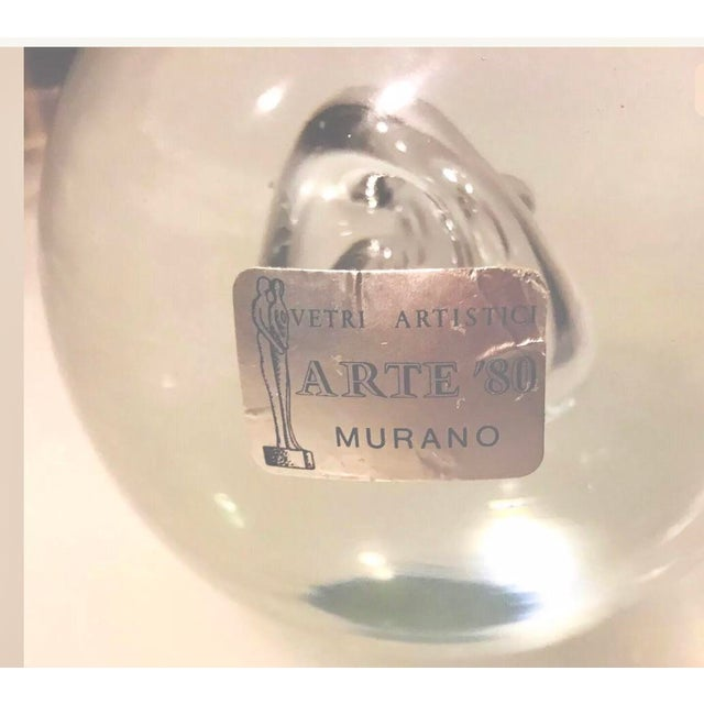 Modern Vintage Murano Large Glass Ball Paperweight Signed by R. Anatra Renato Anatra For Sale - Image 3 of 13
