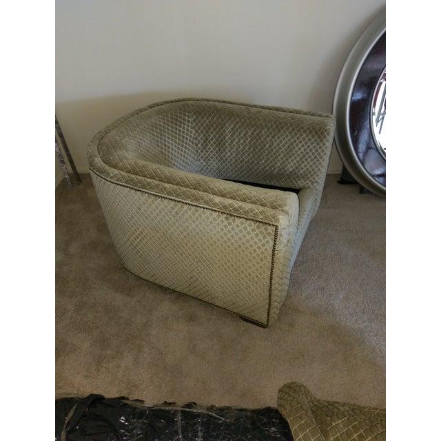 Henredon Aubergine Park Central Chair & Ottoman - Image 5 of 8
