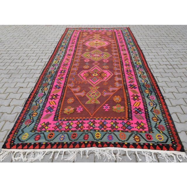 Anatolia Turkish Kilim Rug - 6′6″ × 14′2″ - Image 5 of 10
