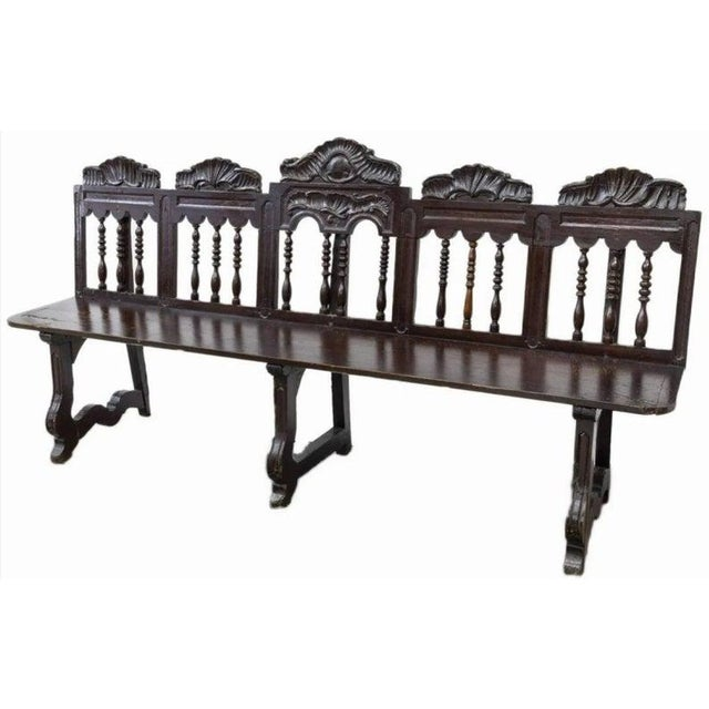18th Century 18th Century Rustic Spanish Long Bench For Sale - Image 5 of 5
