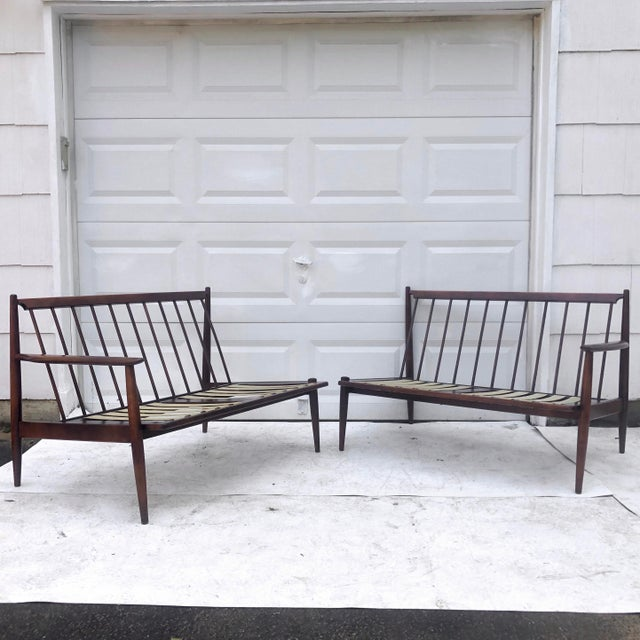 Mid-Century Modern Mid-Century Modern Two Piece Sofa by Baumritter For Sale - Image 3 of 13
