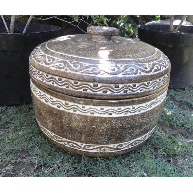 Washed Tribe Pot & Lid - Image 2 of 2