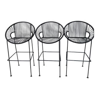 Black Counter Stools by Brayden Studio - Set of 3 For Sale