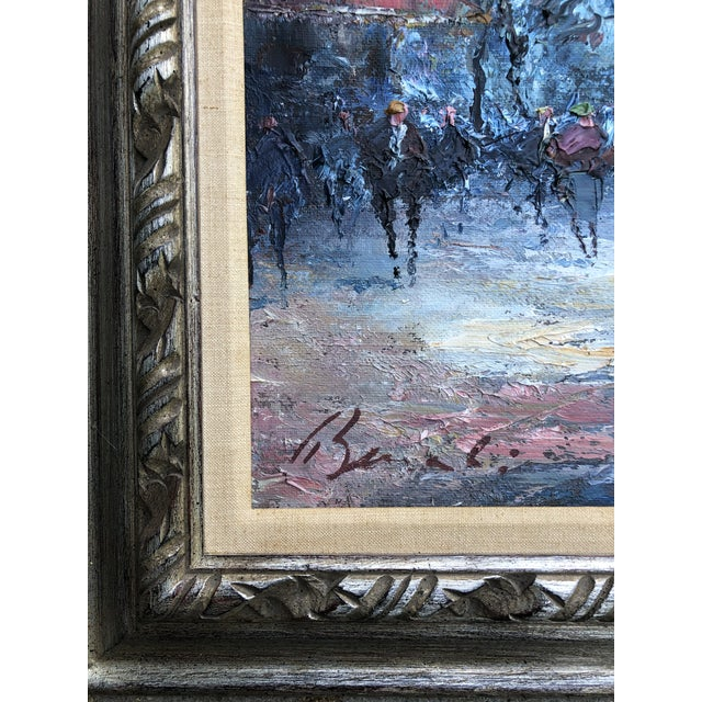Original painting on stretched canvas 20 x 24 in original frame Signed bottom left Overall size with original frame is 27...
