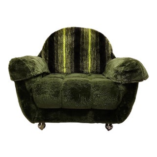 1970's Adrian Pearsall Style Shag Corner Chair For Sale