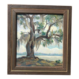 1928 Impressionist Lowcountry Oil Painting For Sale