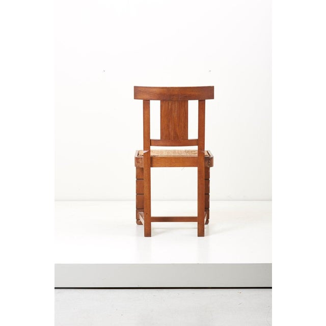 Art Deco Set of Six Wooden Chairs by Jacques Mottheau, France, 1930s For Sale - Image 3 of 13