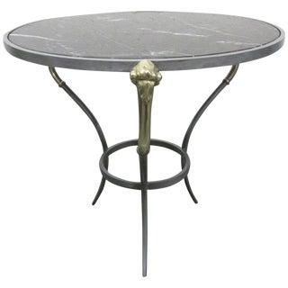 Brass Ram's Head Side Gueridon Table For Sale