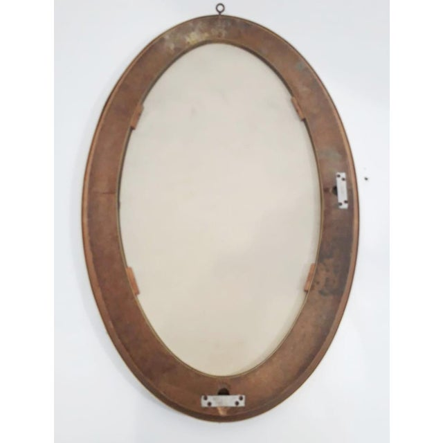 Cristal Arte Vintage Mid Century Oval Mirror by Cristal Art For Sale - Image 4 of 6