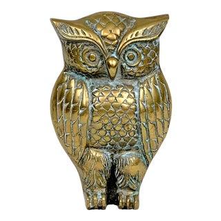 Vintage Brass Owl Figurine For Sale