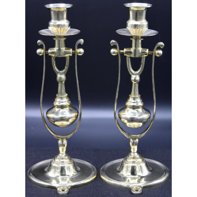 Brass Ship Gimbal Candlestick Wall Sconces - a Pair For Sale - Image 12 of 12