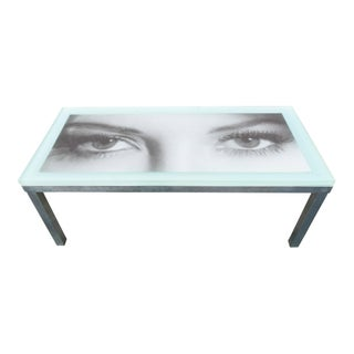 Vintage Hollywood Regency Style Resin Eyes Coffee Table For Sale