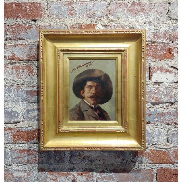 Canvas John Califano -Artist Self Portrait -California Impressionist -Oil Painting For Sale - Image 7 of 7