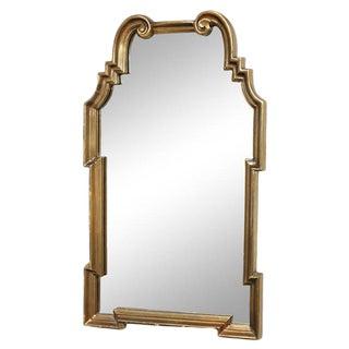 Hollywood Regency Gold Leaf Gilt Mirror For Sale