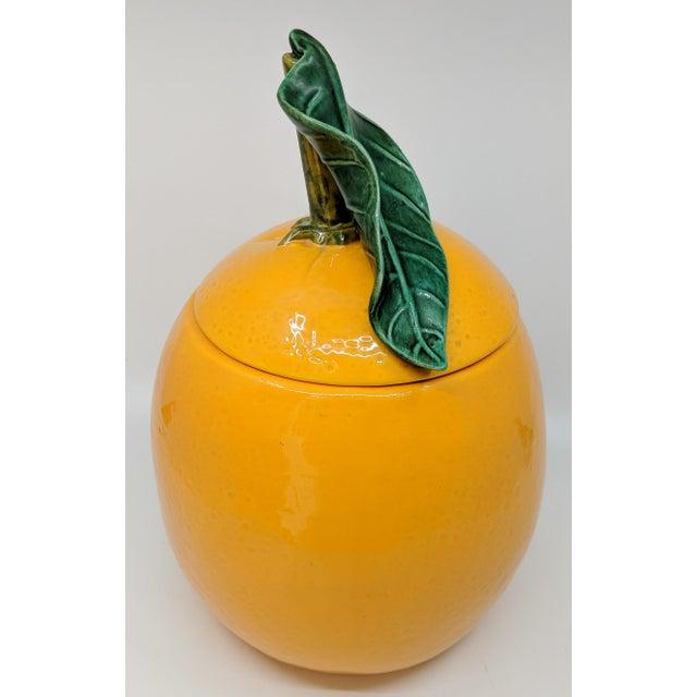Vintage Ceramic Orange Fruit Cookie Jar For Sale In Miami - Image 6 of 11