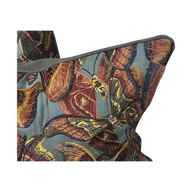 Tapestry Butterfly Pillows - Pair - Image 3 of 5