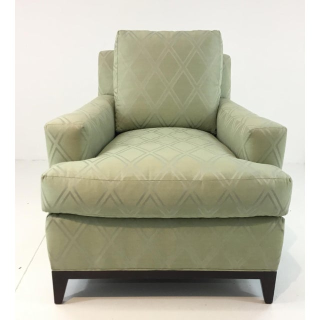 Transitional Hickory Chair 9th Street Light Green Club Chair For Sale In Atlanta - Image 6 of 6