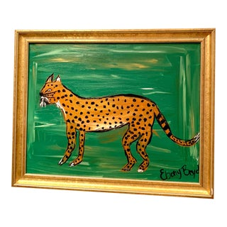 """Regal Louise"" Leopard Painting For Sale"