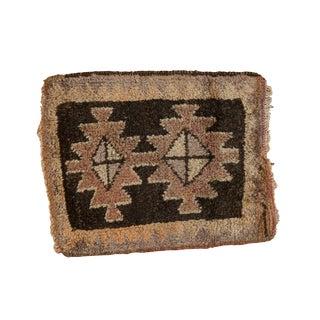 """Vintage Oushak Square Rug Mat - 1'5"""" X 1'9"""" For Sale"""