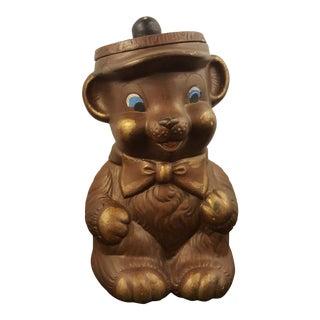 Vintage Teddy Bear Cookie Jar For Sale