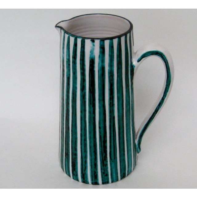 Italian Ceramic Pitcher With Cups - 11 Pieces - Image 7 of 9