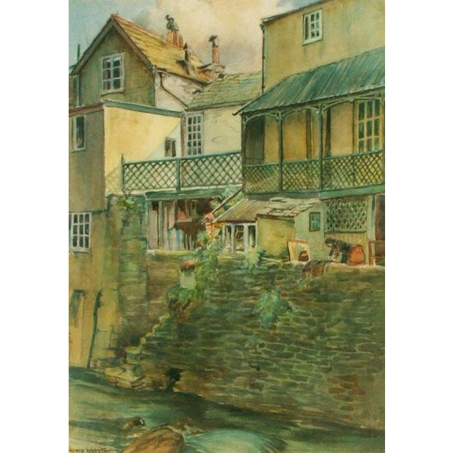 Henry Webster Old Lynmouth Devon Painting - Image 2 of 3
