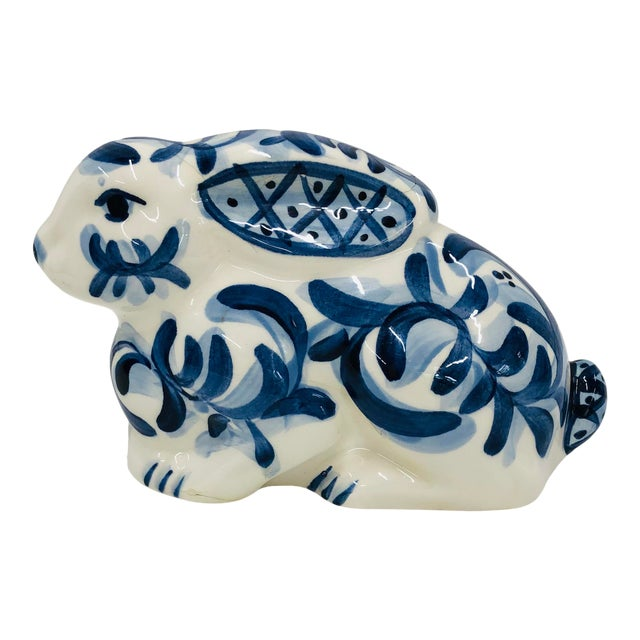 1997 Gail Pittman Blue and White Bunny For Sale