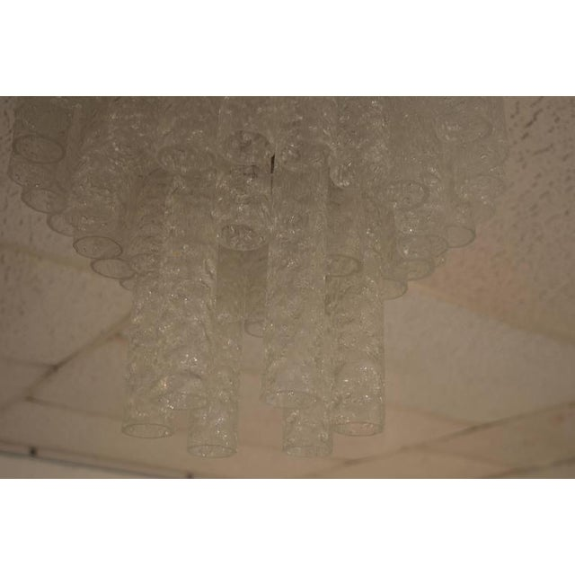 Yellow Doria Chandelier in Three Layers For Sale - Image 8 of 9