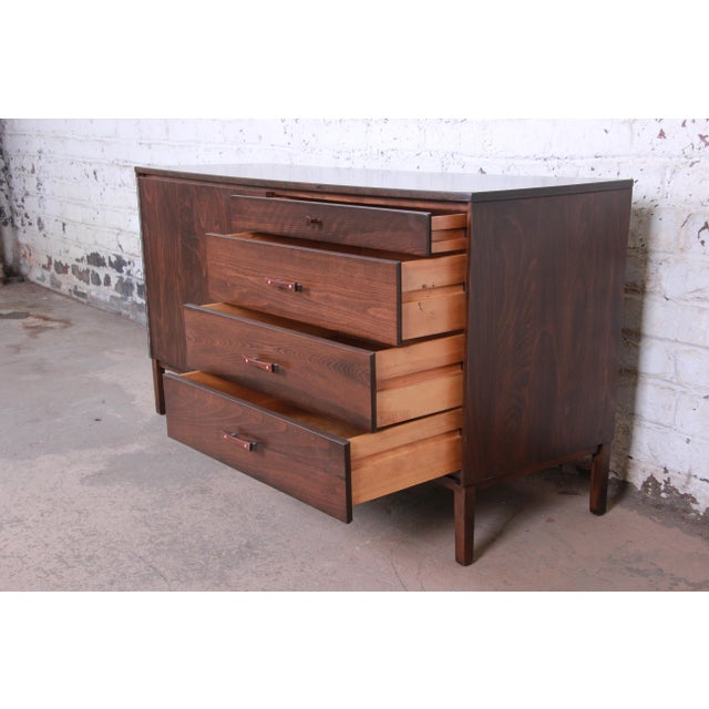 Brown Paul McCobb Perimeter Group Birch Credenza, Newly Restored For Sale - Image 8 of 13