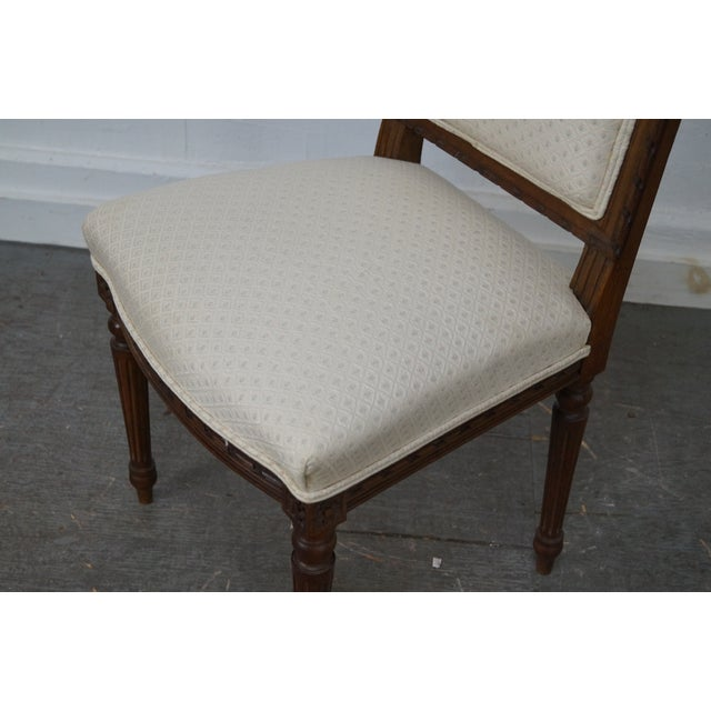 Antique Louis XVI Walnut Side Chairs - A Pair - Image 6 of 10