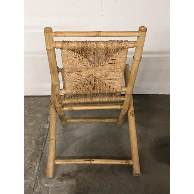 Pair of Faux Bamboo Campaign Chairs in the Manner of Maison Jansen For Sale In Atlanta - Image 6 of 9