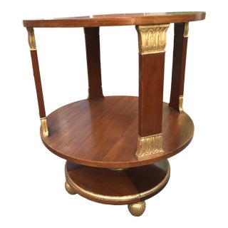 English Regency Style Part Gilt Two-Tier Table For Sale