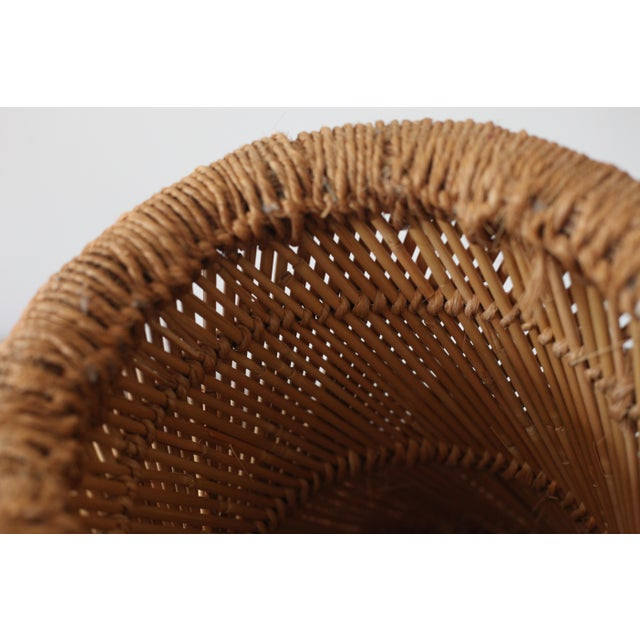 Boho Rattan Side Table with Woven Rope - Image 5 of 5
