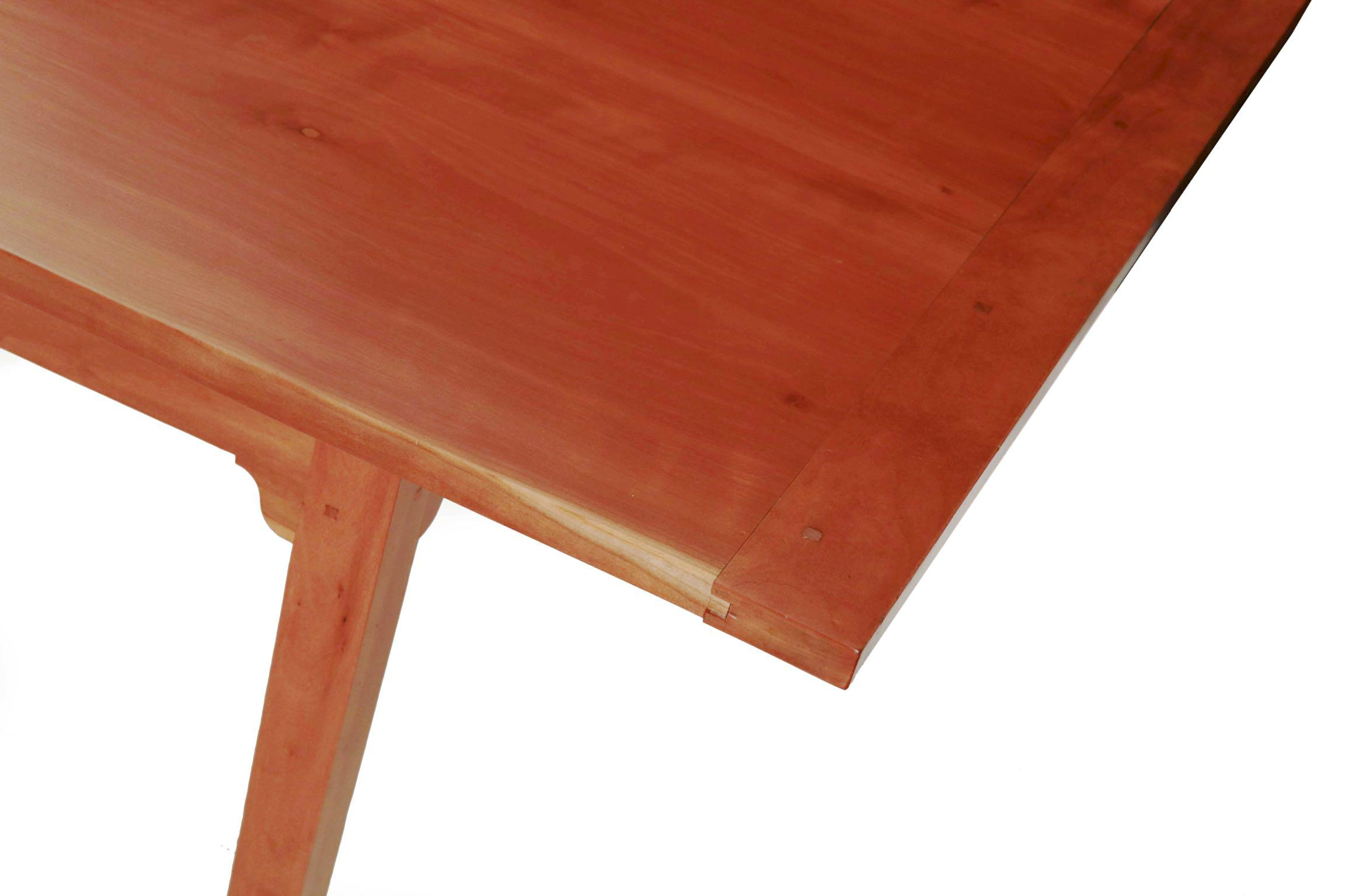 Shaker Style Handmade Cherry Dining Room Table W Pegged Joints