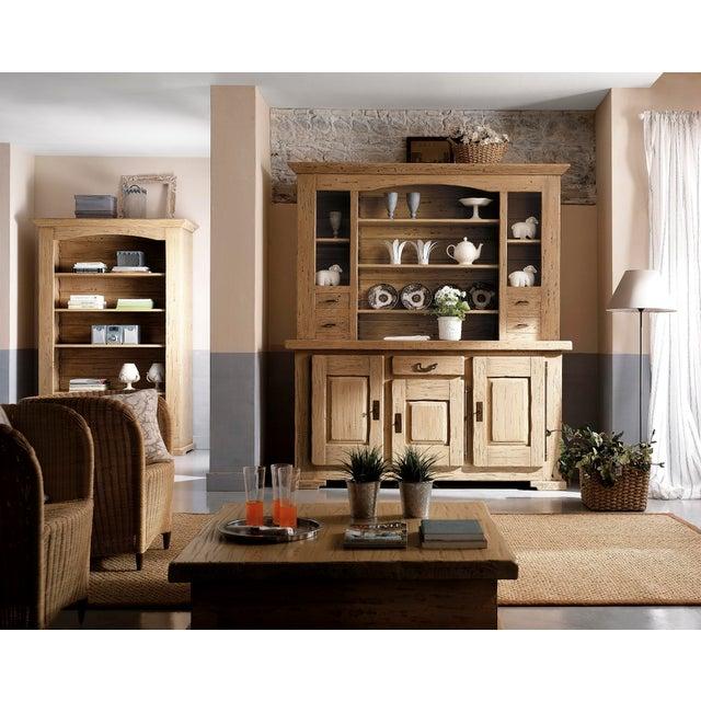 Italian Solid Oak Buffet For Sale - Image 12 of 13