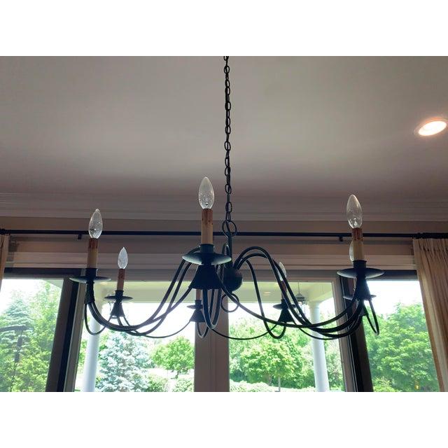 2000 - 2009 Visual Comfort Venetian 7 Light Bronze Chandelier For Sale - Image 5 of 5